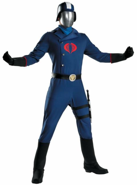 Female Cobra Commander Costume Adult GI Joe Halloween Fancy Dress
