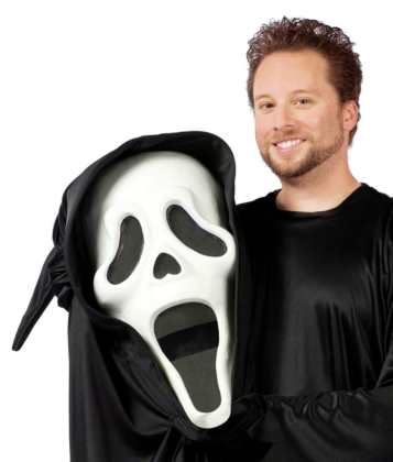 Bobble Head Ghost Face Adult Costume