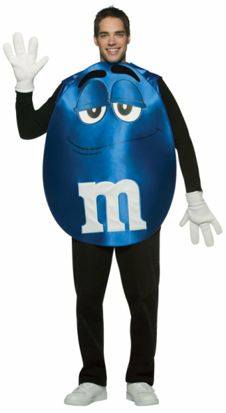 M&Ms Blue Poncho Adult Costume