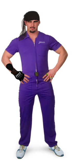 The Big Lebowski Jesus Purple Deluxe Adult Costume