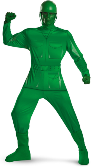Toy Story - Green Army Man Deluxe Adult Costume