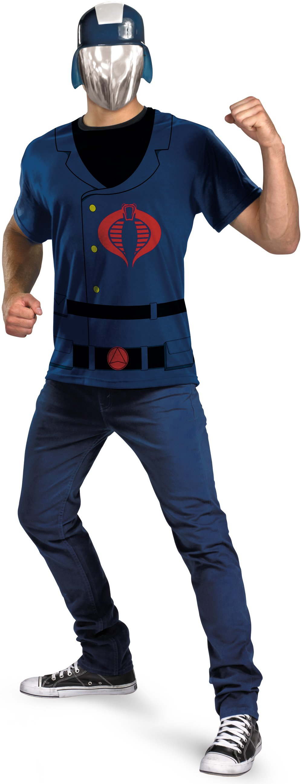 G.I. Joe - Cobra Commander T-Shirt And Mask Costume Set