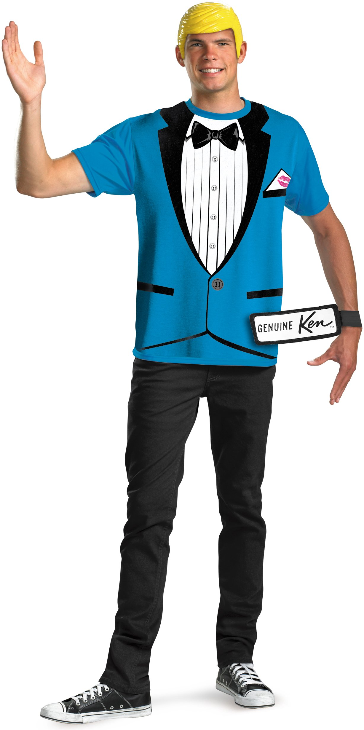 Ken T-Shirt And Mask Adult Costume Set