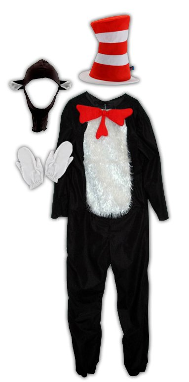 Dr. Seuss Cat in Hat Deluxe Adult Costume