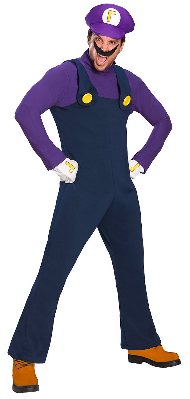Super Mario Bros. - Waluigi Deluxe Adult Costume