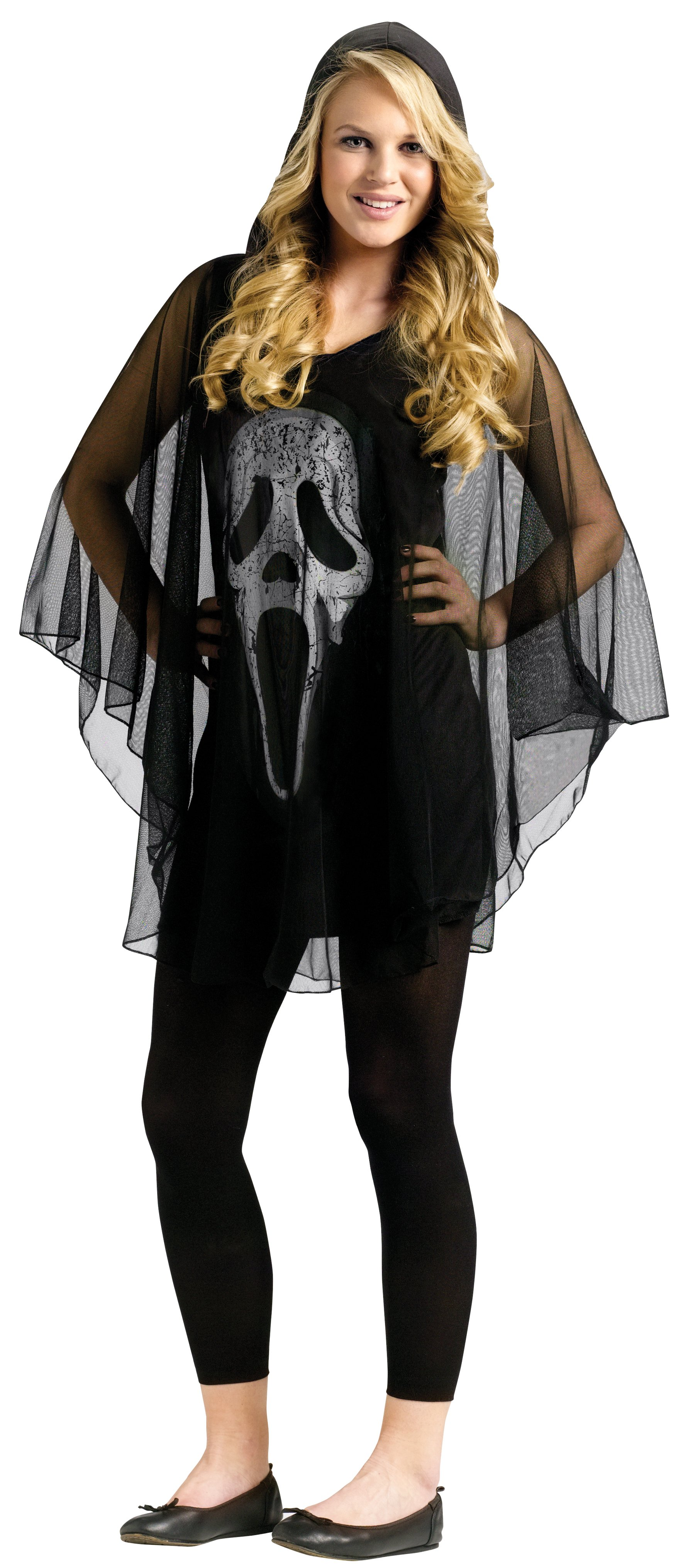 Ghost Face Poncho Teen Costume