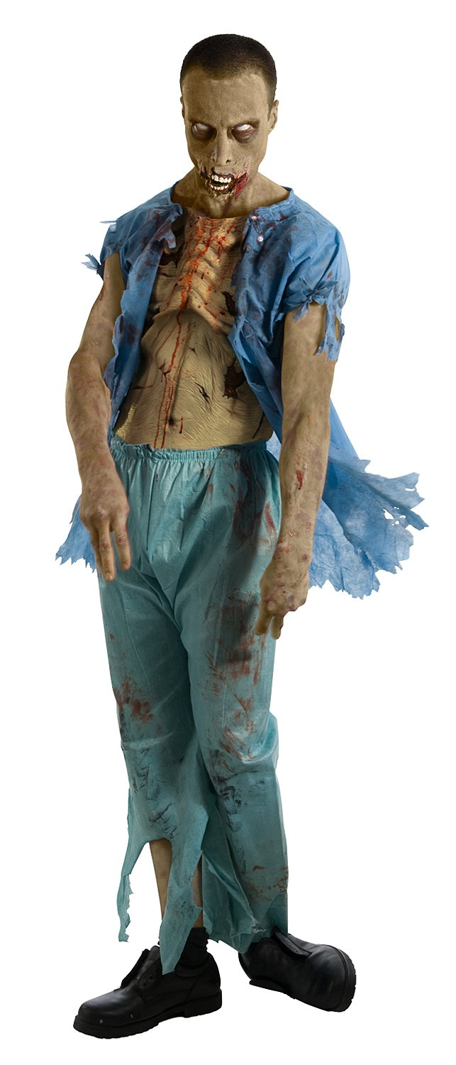 The Walking Dead - Patient's Gown With Molded Wounds Adult Costu