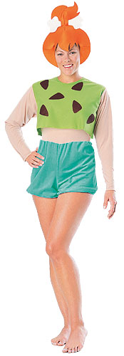 Pebbles Flintstone Adult Costume - Click Image to Close