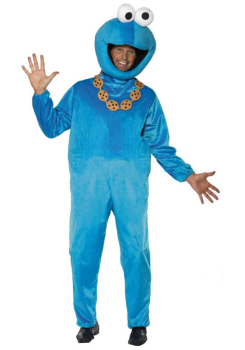 Plush Cookie Monster Costume