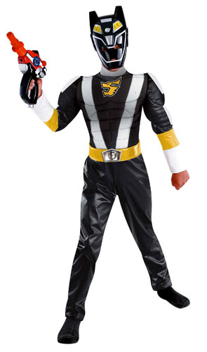 Muscle Chest Black Power Ranger Costume