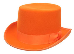 Deluxe Wool Orange Top Hat