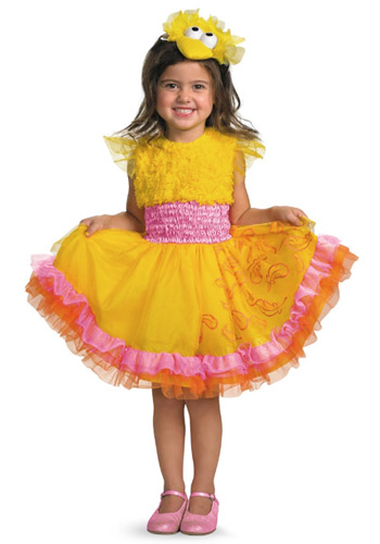 Girls Frilly Big Bird Costume