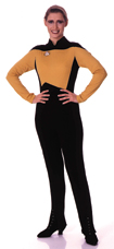 Next Generation Jumpsuit, Gold, Ladies Adult Costume