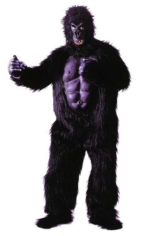 Gorilla Suit w/Chest Adult Costume