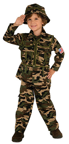 Kids Army Costume
