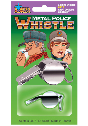 Metal Police Whistle