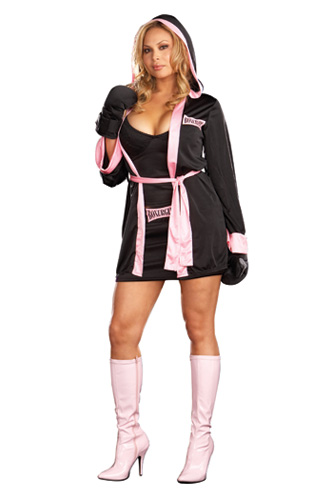 Plus Size Boxer Girl Costume