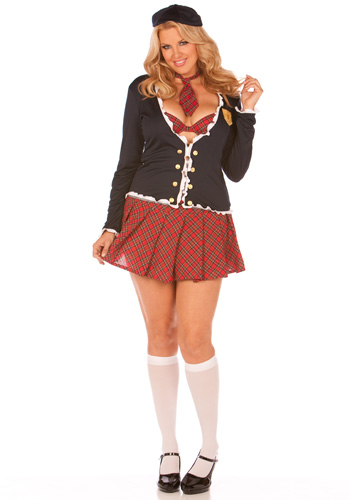 Plus Size School Girl Costume