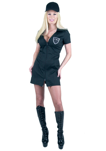 Womens Sexy FBI Costume