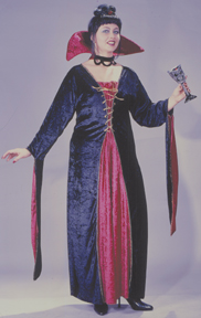 Victorian Vampiress Velvet Plus Size Adult Costume