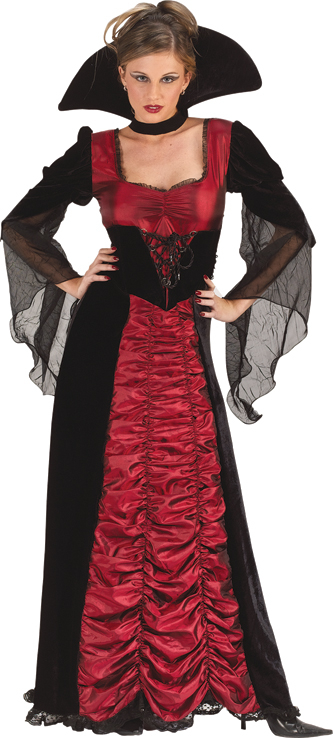 Taffeta Coffin Vampiress Adult Costume