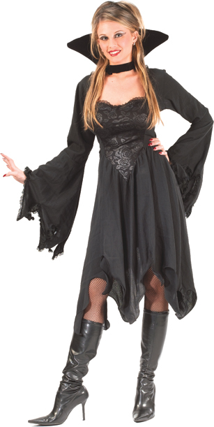 Vampiress Black Rose Adult Costume