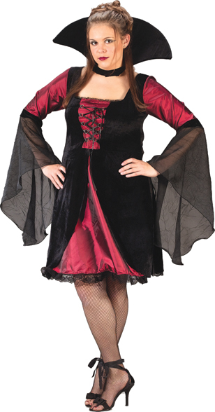 Vampiress Sexy Plum Plus Size Adult Costume