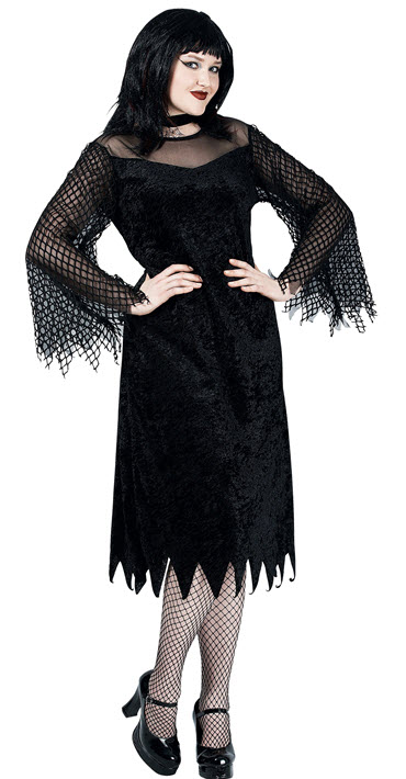 Vamp Robe With Mesh Sleeve Plus Size Costume Extra Large