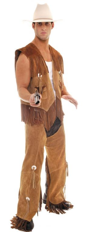Cowboy Leather Vest/Chaps Set Adult Costume