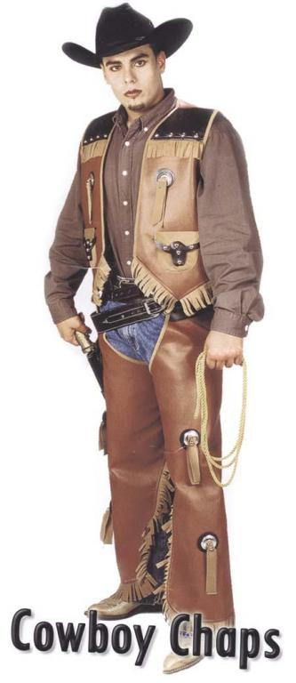 Cowboy Vest And Chaps Adult Costume