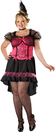 Saloon Gal Plus Size Costume