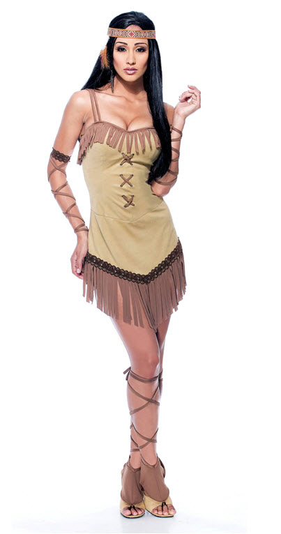 Native Maiden Adult Costume Small
