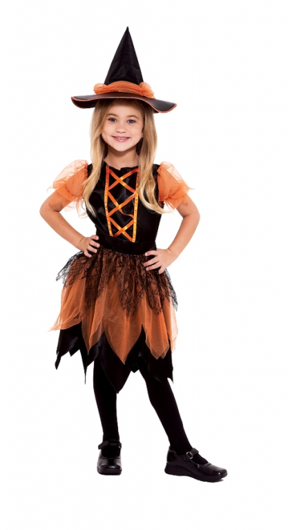 Pumpkin Patch Witch Chld Costume Large