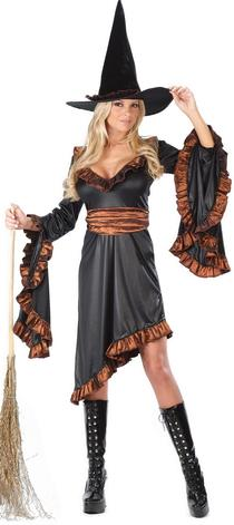 Ruffle Witch Plus Size Adult Costume