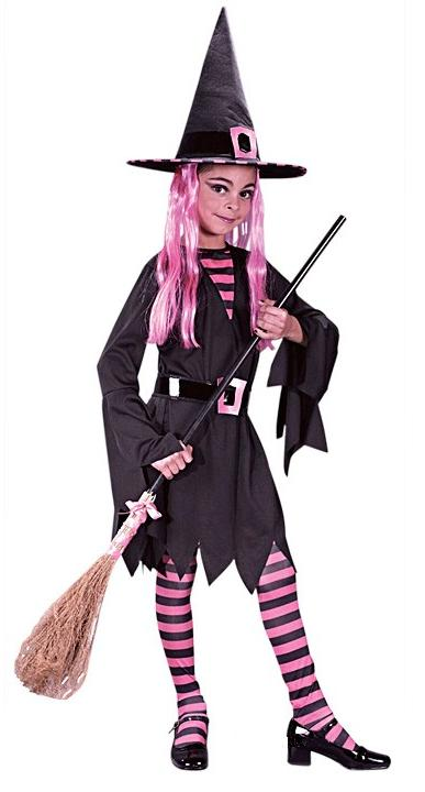Pretty N Pink Witch Child Costume