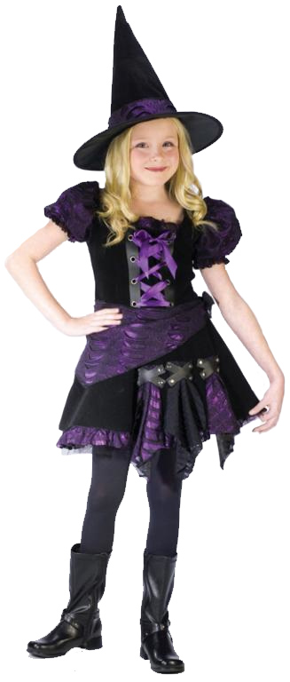 Witch Purple Punk Child Costume