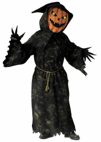 Bobble Head Pumpkin Adult Costume