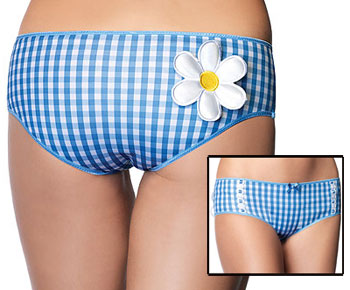 Gingham Print Hot Pants
