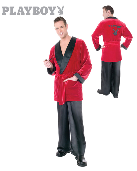 Playboy Smoking Jacket Costume for Adults - Click Image to Close