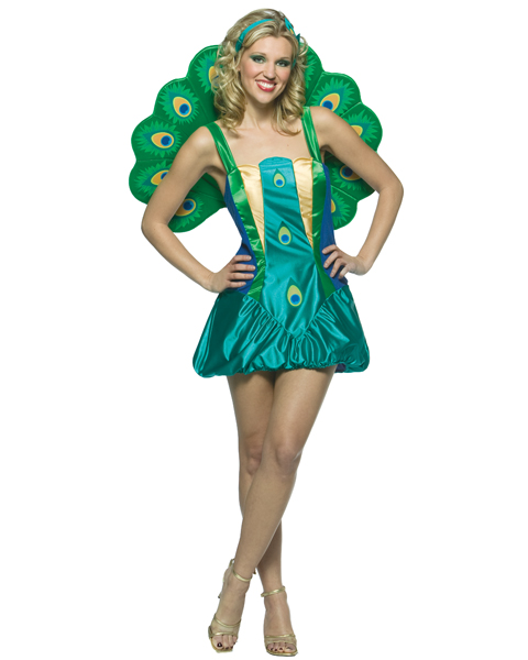 Womens Light Weight Peacock Costume