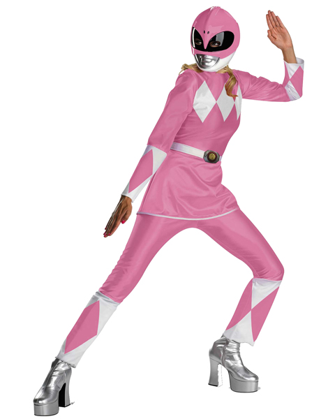 Womens Pink Deluxe Power Ranger Costume XL