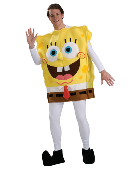 Dlx Spongebob Costume for Adult