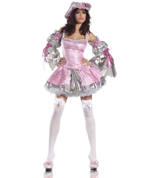 Pink  Marie Antoinette Sexy Womens Costume
