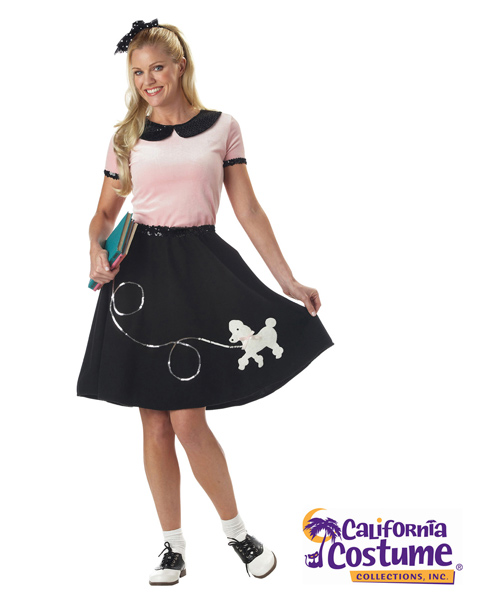 50s Hop With Poodle Skirt Costume for Women