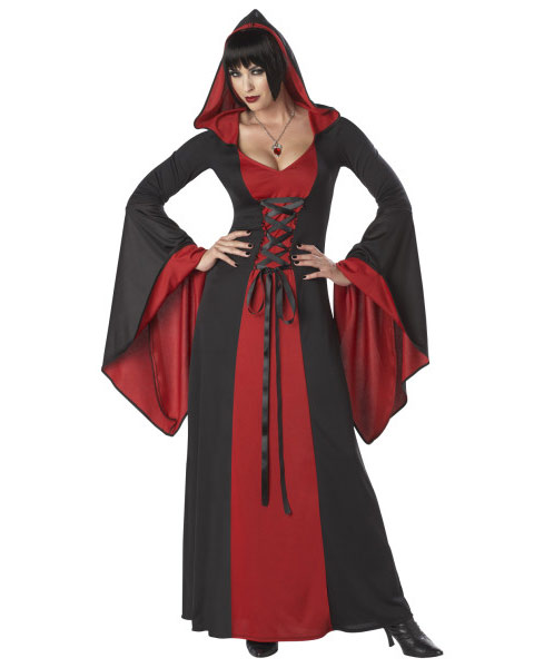 Adult Womens Deluxe Hooded Gown Costume