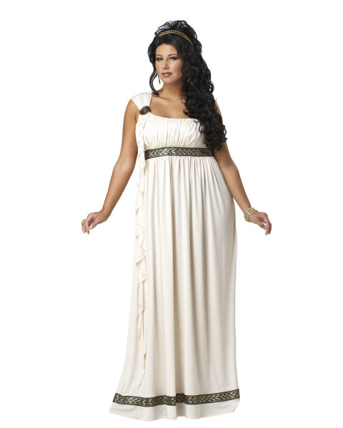 Plus Size Womens Olympic Goddess Costume