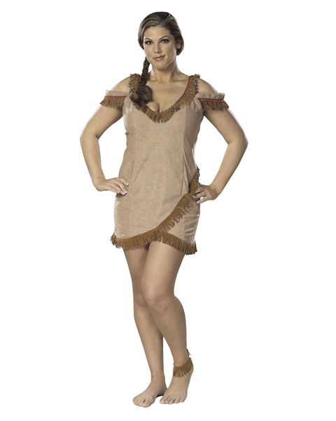 Adult Plus Size Sassy Indian Maiden Costume