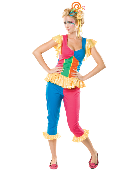 Womens Jingles the Jester Circus Costume