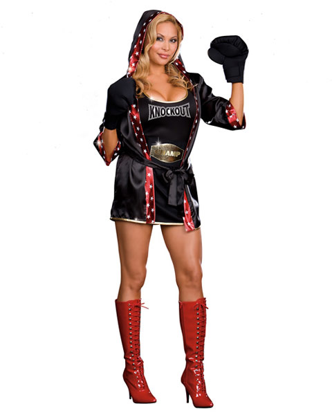 Sexy TKO Total Knockout Plus Women's Boxer Costume