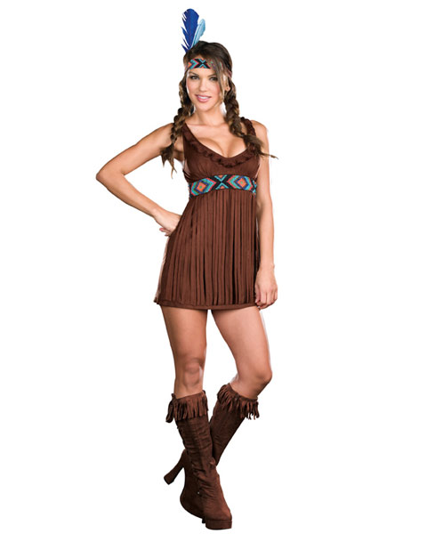 Sexy Tribal Trouble Women's Indian Costume